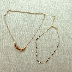 Two Madewell necklaces
